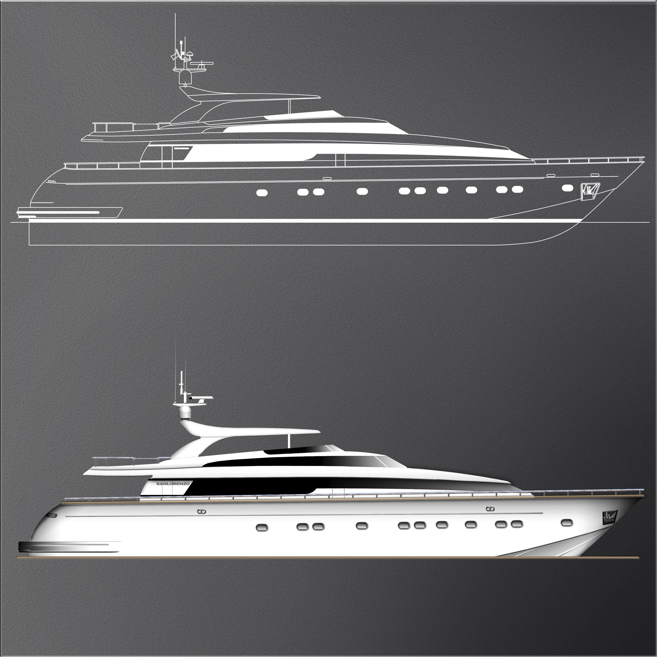 profilo di yacht
