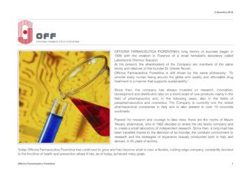 Dettaglio di brochure per laboratorio farmaceutico